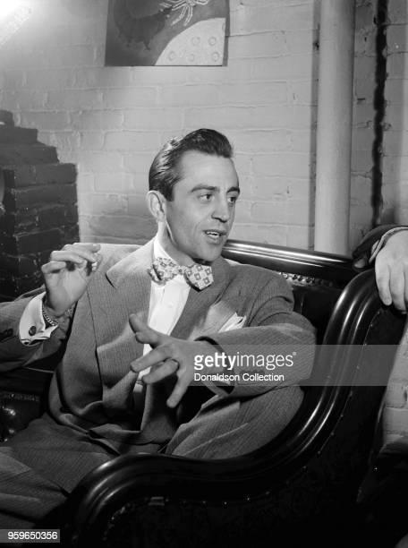 Boyd Raeburn at Edwin A. Finckel's home, Greenwich Village, New York, N.Y., ca. July 1946. Caption from Down Beat: Boyd Raeburn & Stan Kenton:...