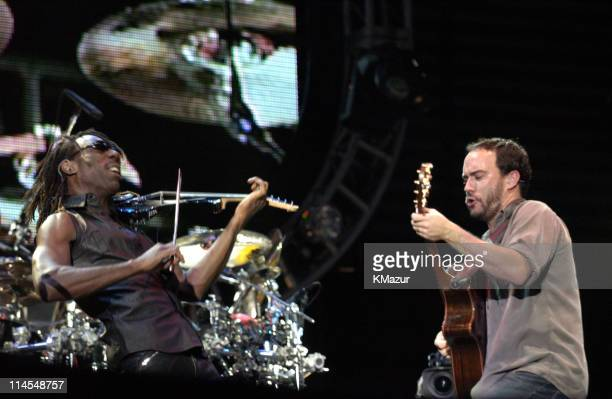 Boyd Tinsley and Dave Matthews during Dave Matthews Band In Central Park The AOL Concert For Schools Show at The Great Lawn Central Park in New York...
