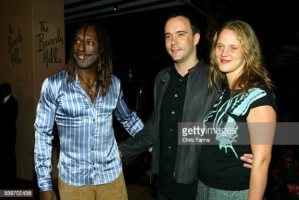 Boyd Tinsley Dave Matthews and wife Ashley arrive at Clive Davis' PreGrammy awards party at the Beverly Hills Hotel