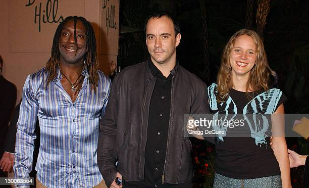 Boyd Tinsley Dave Matthews and wife Ashley during 2004 Clive Davis PreGrammy Party Arrivals at Beverly Hills Hotel in Beverly Hills California United...