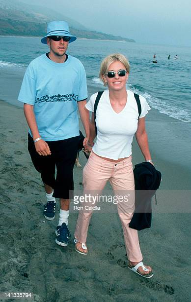 boyfriend and Nicole Eggert at the Premiere Party for 'Clueless' Leo Carillo Beach Malibu