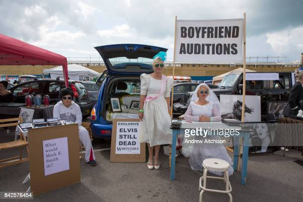 Boyfriend auditions by the artist Sadie Hennessy at the 2017 Art Car Boot Fair Folkestone Kent