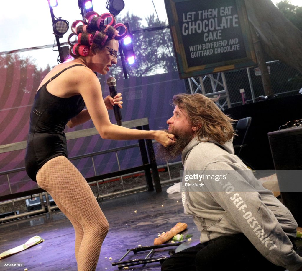 Boyfriend performs during Let Them Eat Chocolate Cake with Guittard on the Gastro Magic Stage during the 2017 Outside Lands Music And Arts Festival at Golden Gate Park on August 12, 2017 in San Francisco, California.