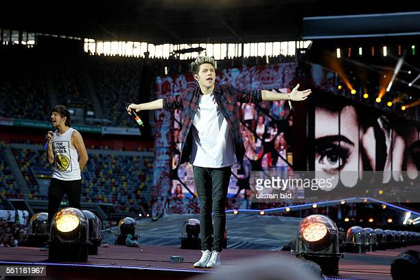 Boygroup One Direction on stage at Midnight Memories tour at Esprit Arena Duesseldorf