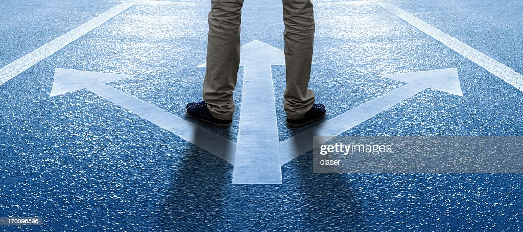 Boy/man about to make a decision : Stock Photo