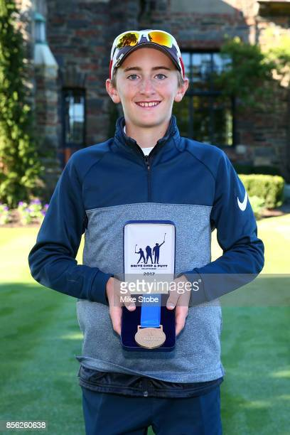 Boys 1213 First place winner Lance Hollingshead pose during the Drive Chip and Putt Championship at Winged Foot Golf Club on October 1 2017 in...