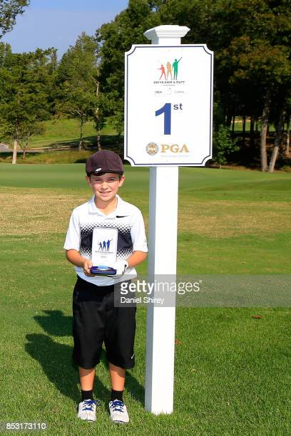 Boys 79 Chip Skill winner Thaxton Cheyne during the Drive Chip and Putt Championship at The Honors Course on September 24 2017 in Ooltewah Tennessee