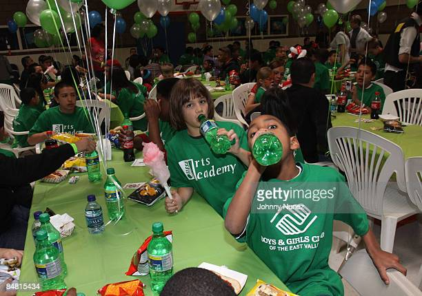 Boys and Girls Club Children attend the Sprite Green Instrument Donation on February 14 2009 in Mesa Arizona