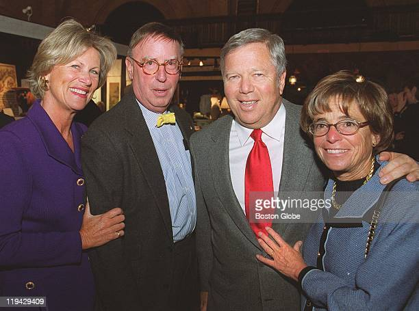 Boys and Girls Club party at the Park Plaza Castle Susan and John Spooner of Boston Mass with Bob and Myra Kraft Myra is chairman of the board of...