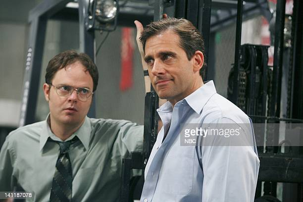 THE OFFICE Boys and Girls Episode 15 Aired Pictured Rainn Wilson as Dwight Schrute and Steve Carell as Michael Scott Photo by Dean Hendler/NBCU Photo...