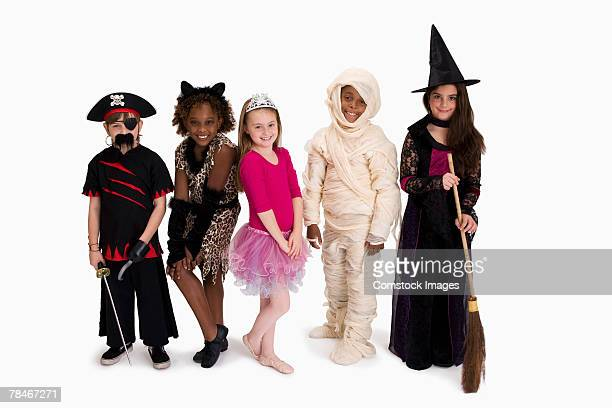 Boys and girls in costume