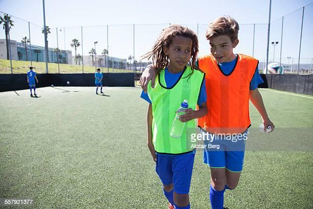 Boys at soccer training