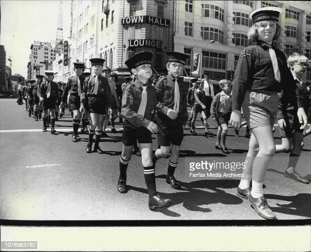 Boys Brigade -- Members of the boys brigade marching through the streets of the City.The Boys' Brigade had their annual Founders Day Parade through...
