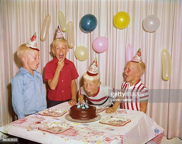 Boys Celebrating at a Birthday Party