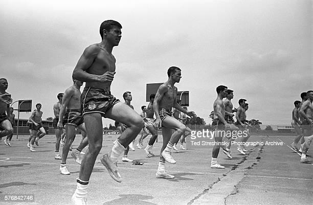 Boys Doing Exercise Drills