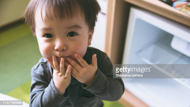 boy's face - 1歳以上2歳未満 ストックフォトと画像