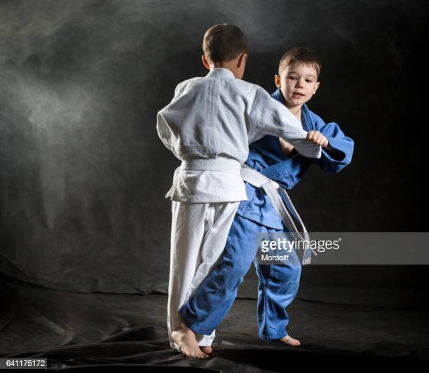 boys fighting judo - judo stock photos and pictures