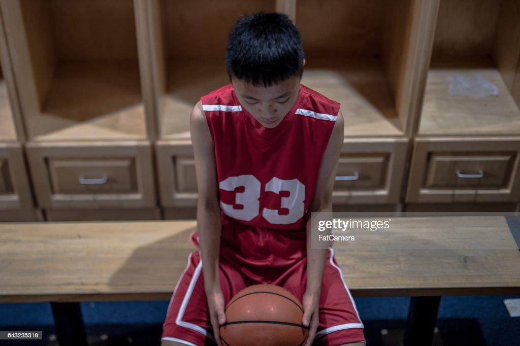 Boys high school basketball team: : Stock Photo