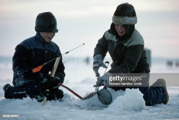 Boys Ice Fishing