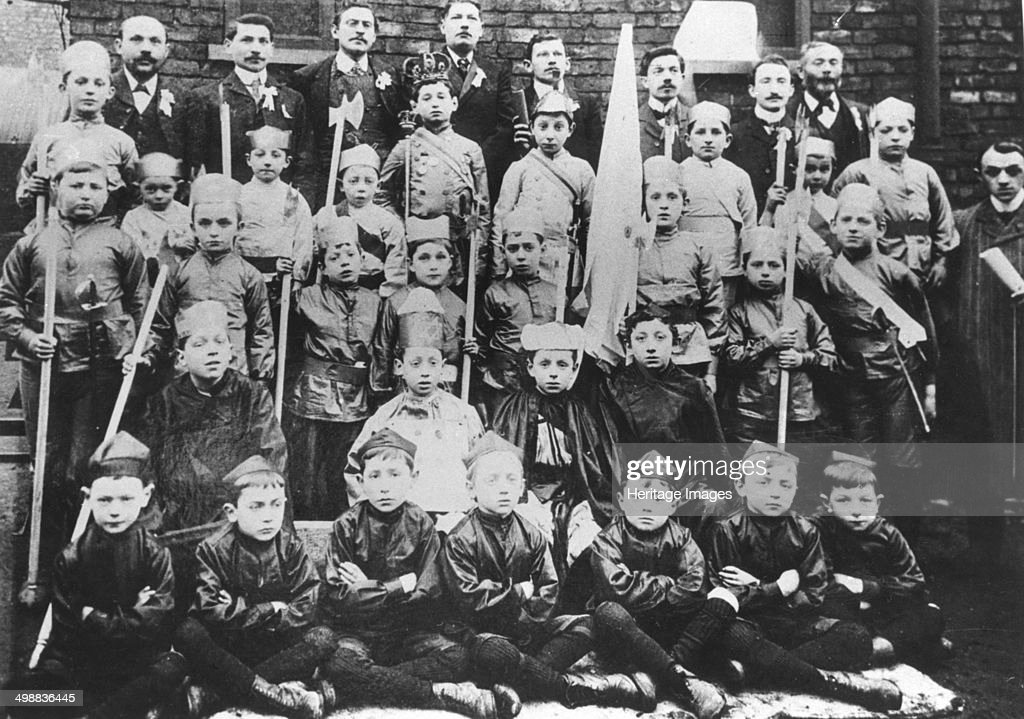 Boys in fancy dress for Purim, before 1914. : News Photo