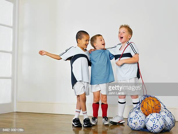 Boys in Soccer Team
