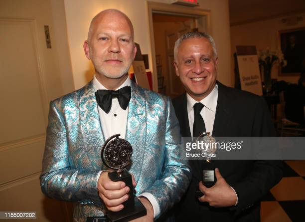 Boys in The Band Producers Ryan Murphy and David Stone pose in the press room for The 2019 Annual Tony Awards at Radio City Music Hall on June 9 2019...