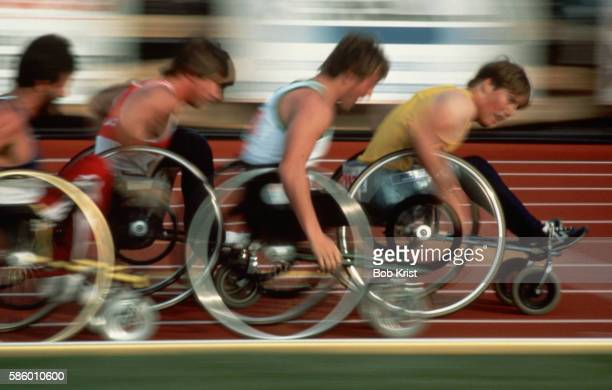 Boys in Wheelchair Race