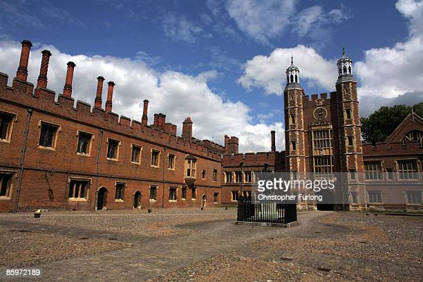 Boys make their way to classes across the historic School Yard of Eton College on May 26 2008 in Eton England An icon amongst private schools since...
