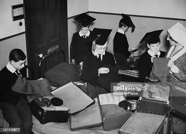 Boys Of Highgate Song School Packing Up For Moving In London On November 1938