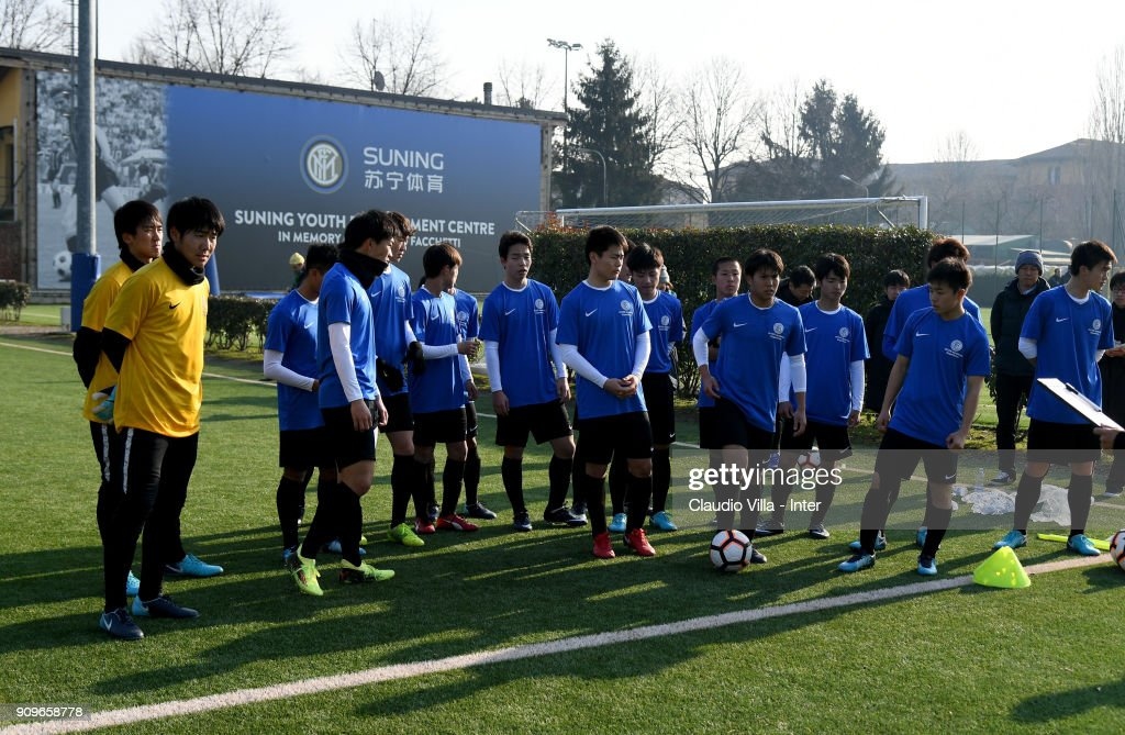 Inter Development fc internazionale academy session photos and images
