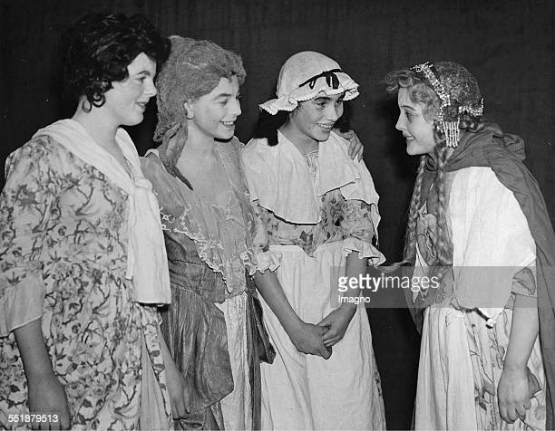 Boys of the Loughton school play female roles in the play 'The Rivals ' at parents' evening 13th December 1934 Photograph