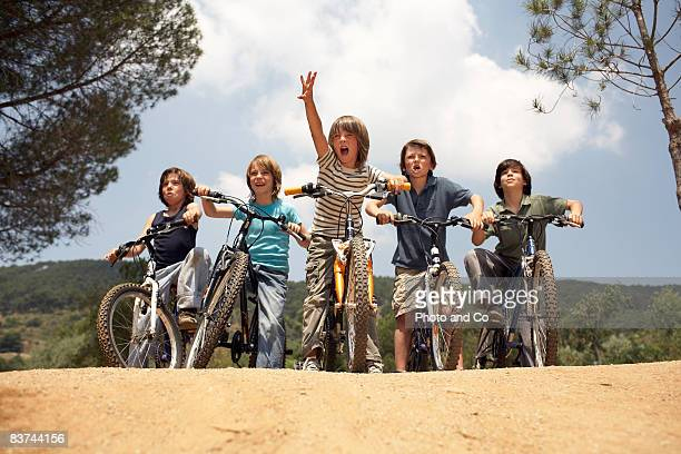 boys on bicycles