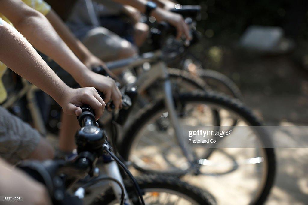 boys on bicycles : Stock Photo