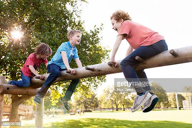 Boys playing in the park