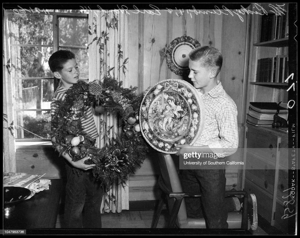 Boy\'s Republic wreaths for Christmas, 21 November 1960. Ricky Plumb ...