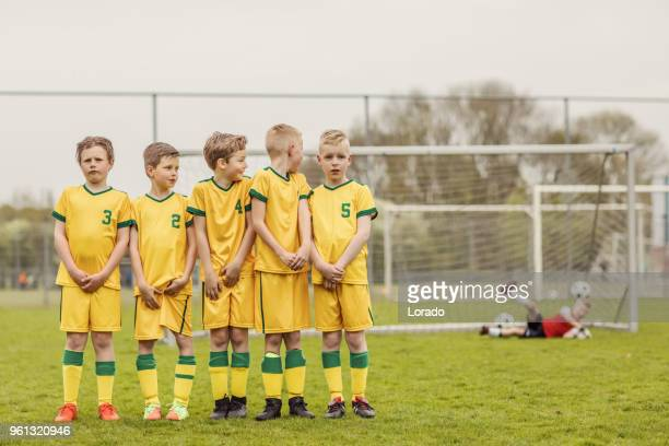 a boys soccer team - free kick stock pictures, royalty-free photos & images