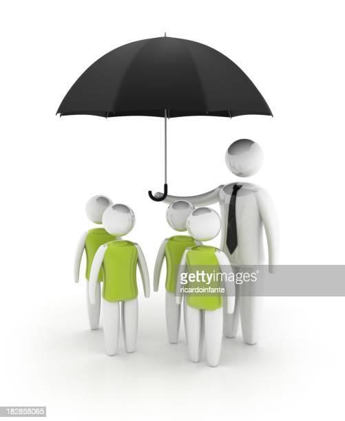 boys under umbrella