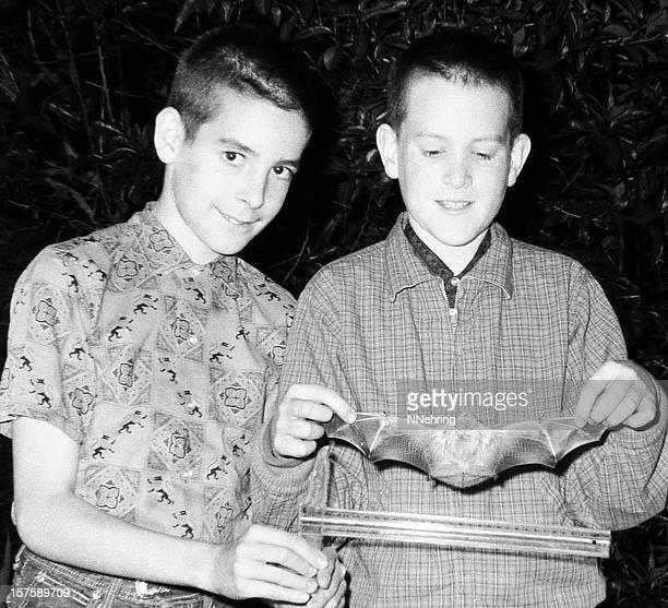 boys with bat 1963, retro