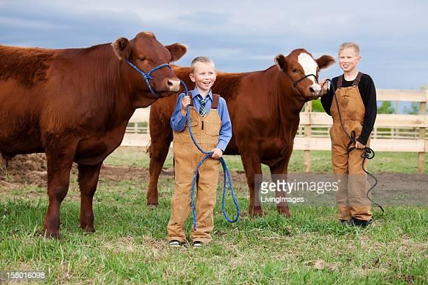 Boys with their Calves