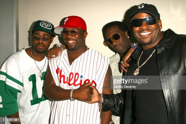 Boyz II Men during Boyz II Men album release party at Club Suede in New York City New York United States