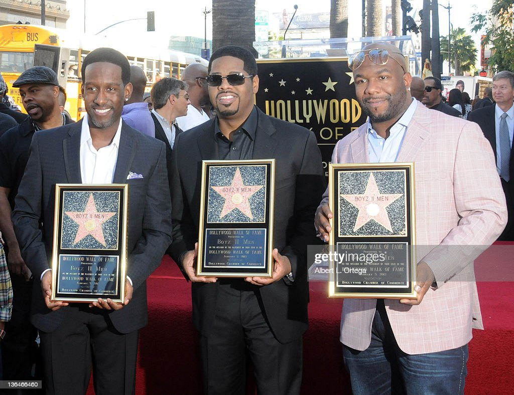 Boyz II Men Honored On The Hollywood Walk Of Fame held at 7060 Hollywood Blvd on January 5, 2012 in Hollywood, California.