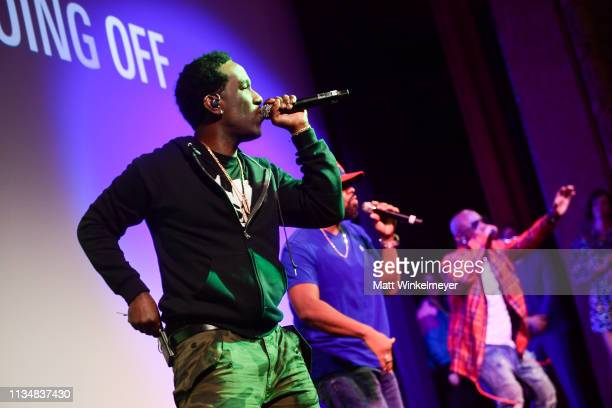 "Boyz II Men perform during the ""Long Shot"" Premiere - 2019 SXSW Conference and Festivals at Paramount Theatre on March 09, 2019 in Austin, Texas."