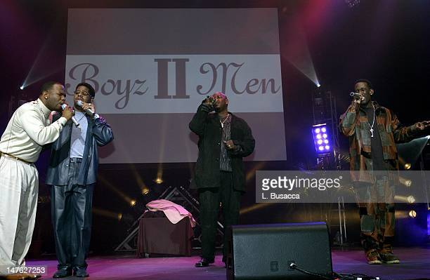 Boyz II Men performs as they share the bill with Dream at PENCIL's 'Stand Up For Your Schools' evening sponsored by Arista Records