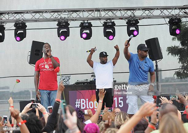 Boyz II Men performs at the McDonald's Presents The #BlogHer15 Closing Party on July 18 2015 in New York City