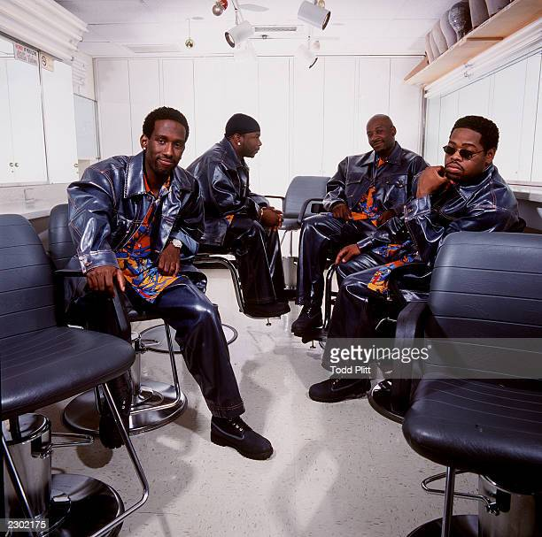 Boyz II Men Shawn Stockman Wanya Morris Michael McCary and Nathan Morris pose for a portrait in the NBC Studios dressing room in New York City on...