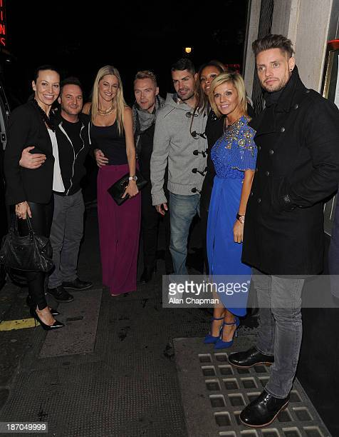 Boyzone and partners Karen Corradi Mikey Graham Storm Keating Ronan Keating' Shane Lynch Sheena White Lisa and Keith Duffy sighting at The Ivy on...