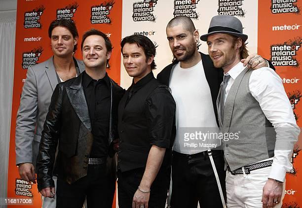 Boyzone appear in the Meteor Music Awards Press Room on February 15 2008 in Dublin Ireland