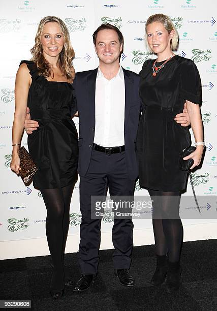 Boyzone member Mikey Graham his wife Karen Corradi and Dawn Barlow wife of Take That's Gary Barlow arrive at the fourth annual Emeralds And Ivy Ball...