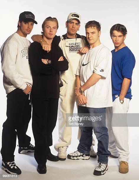 Boyzone Keith Duffy Ronan Keating Mikey Graham Shane Lynch and Stephen Gately pop group circa 1996