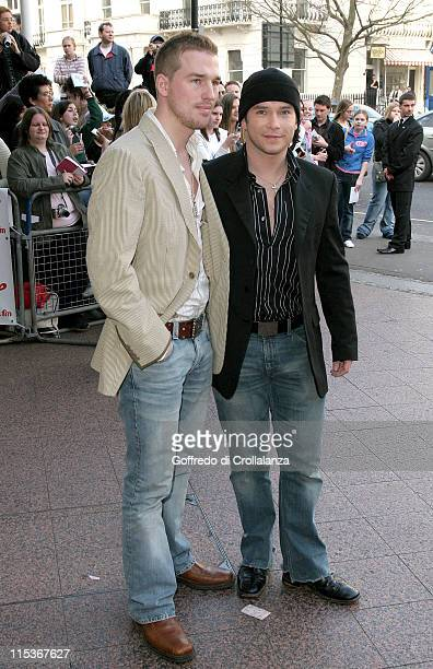 Boyzone singer Stephen Gately and partner Andrew Cowles
